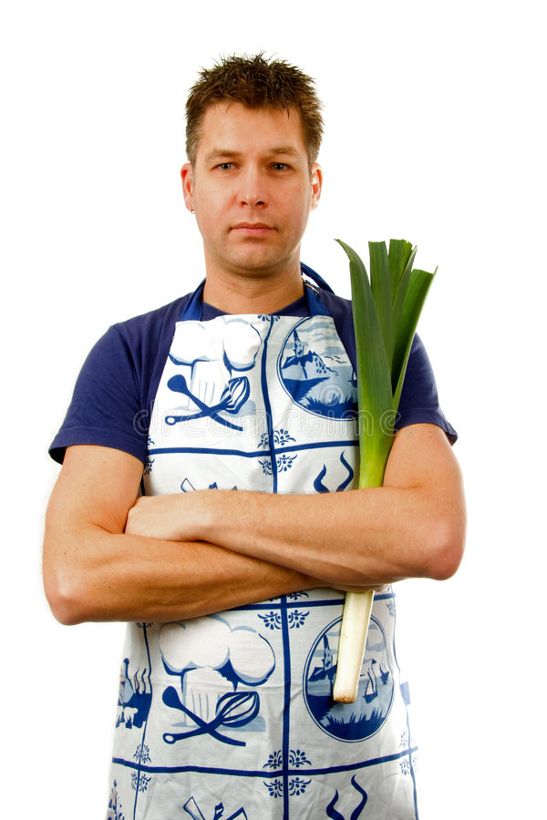Download Cook with leek stock image. Image of background, vegetables - 8129033