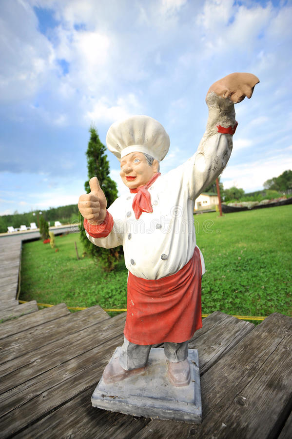 Download A Cook Made In Ceramic In A Garden Stock Photo - Image of gnome, ceramic: 27231602