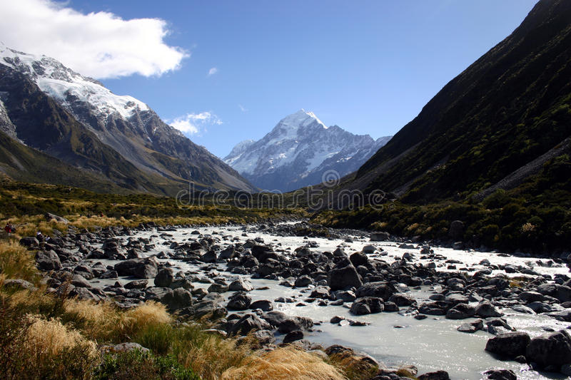 Cook Mountain, New Zealand stock photography