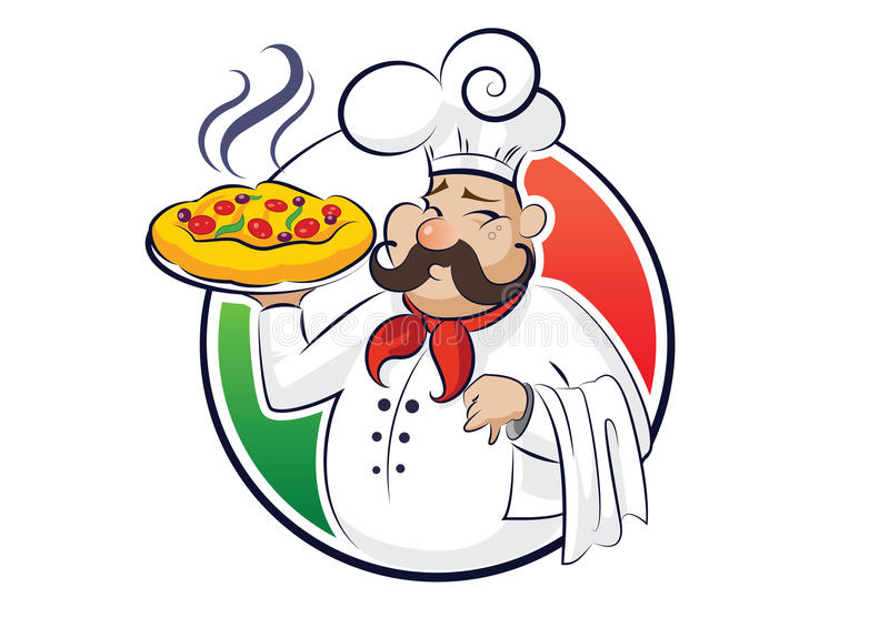 Download Cook pizza stock vector. Image of black, cuisine, painting - 26698047