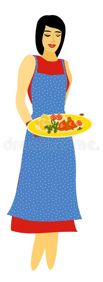 Cook with a plate of food stock images