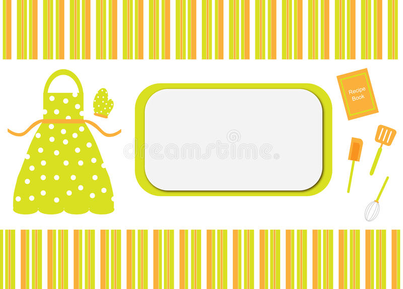 Download Cook Recipe Book Card Cover Stock Illustration