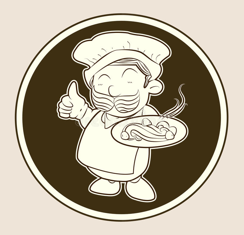 A Cook Serving Food royalty free stock photos