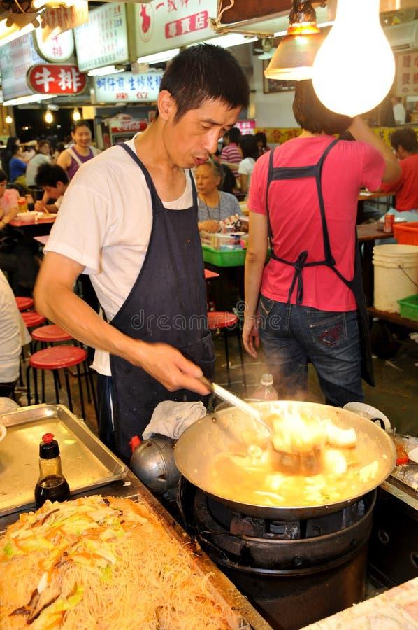 Cook of taipei night market stock photos