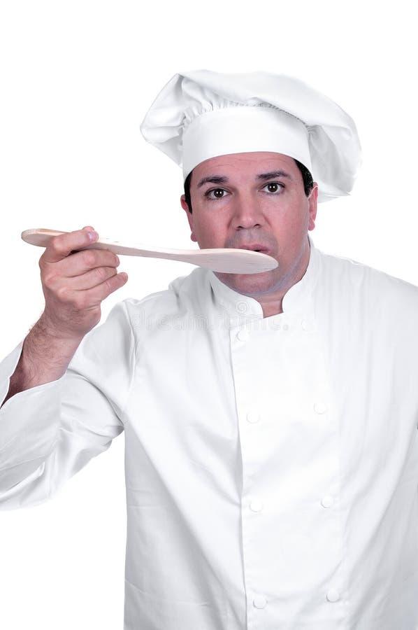 Cook tasting food