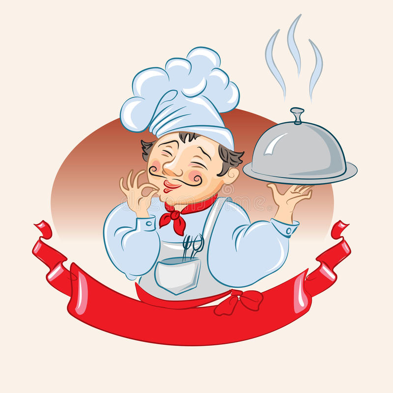 Cook vector stock illustration