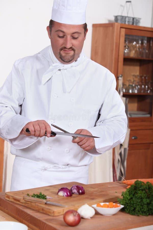 Cook w kuchni zdjęcie stock