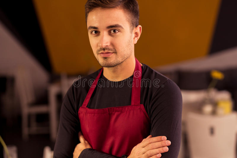 Cook w restauraci obraz royalty free