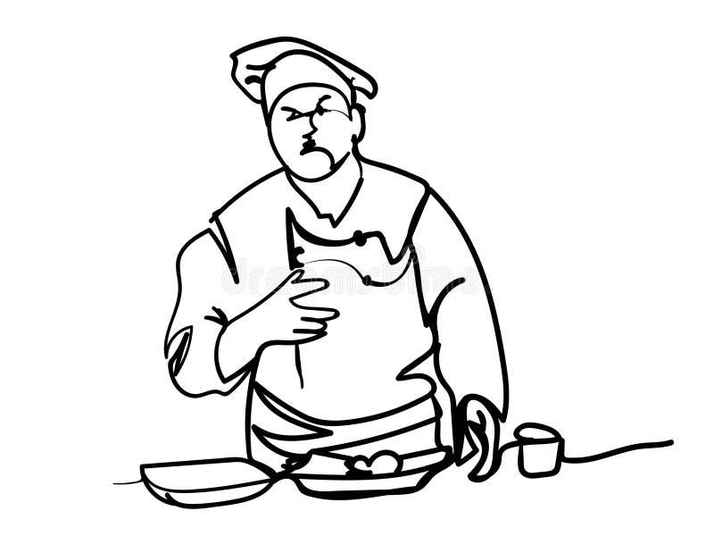 Cook royalty free illustration