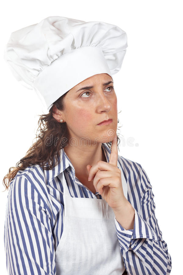 Download Cook Woman Thinking Royalty Free Stock Photos - Image: 9977438