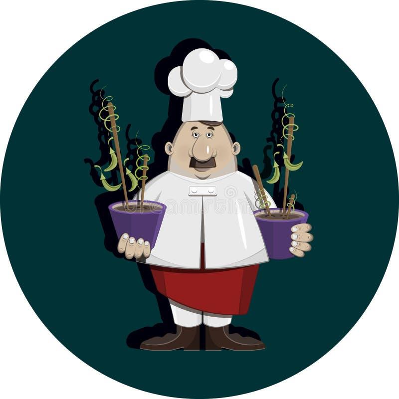 Cook z grochu kolorem ilustracji