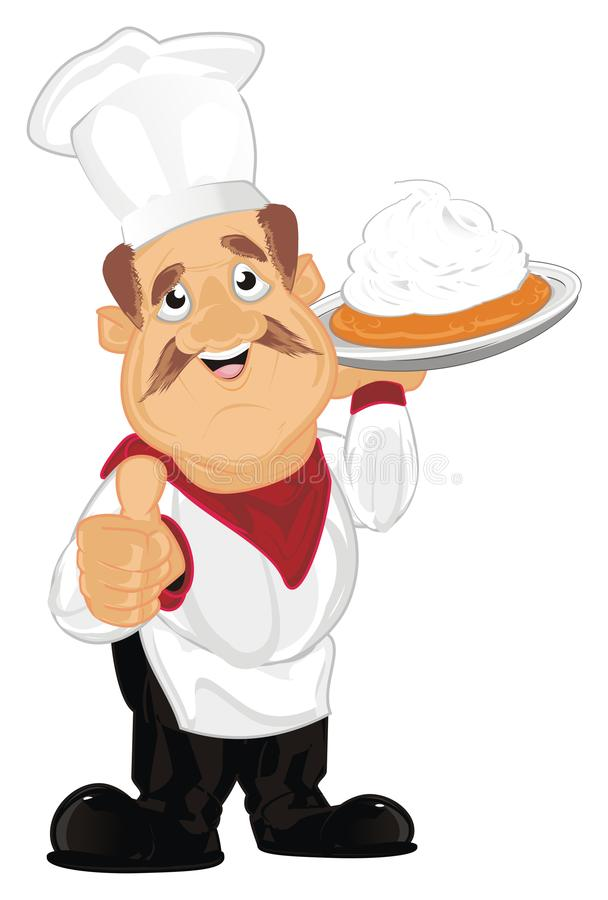 Cook z tortem ilustracja wektor