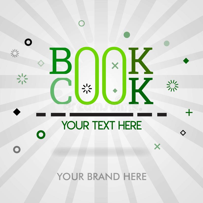 Cookbook cover page. cookbook banner for website.american cookbook in best sale. can be for promotion, advertising, marketing. sui. Table for print, newspaper royalty free illustration
