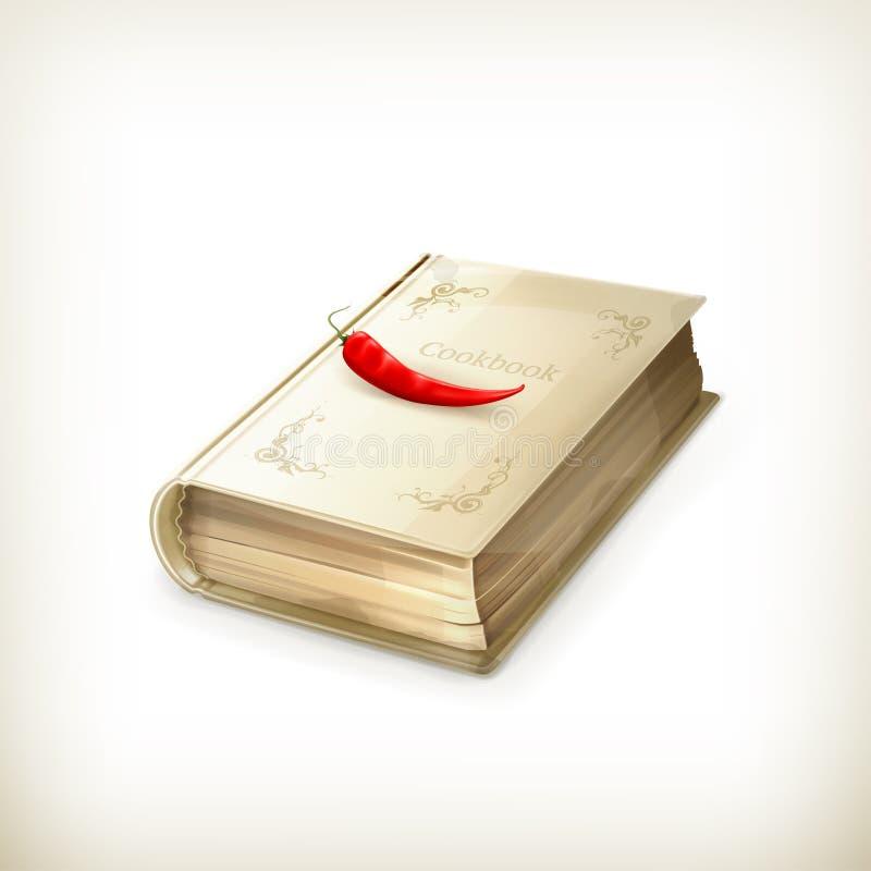 Cookbook icon. Computer illustration on white background royalty free illustration