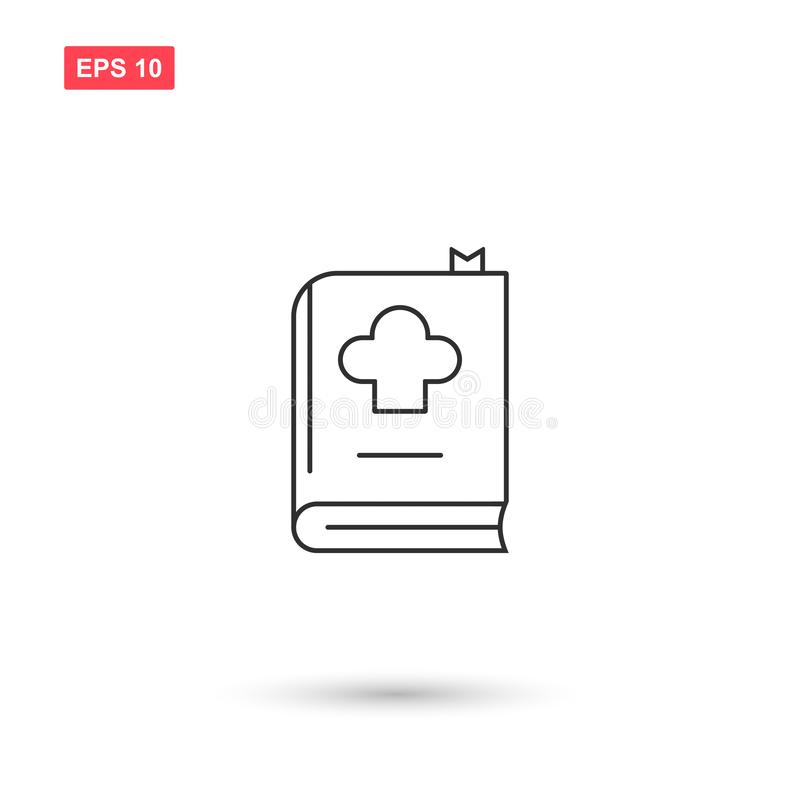 Cookbook icon vector design isolated 4. Eps10 vector illustration