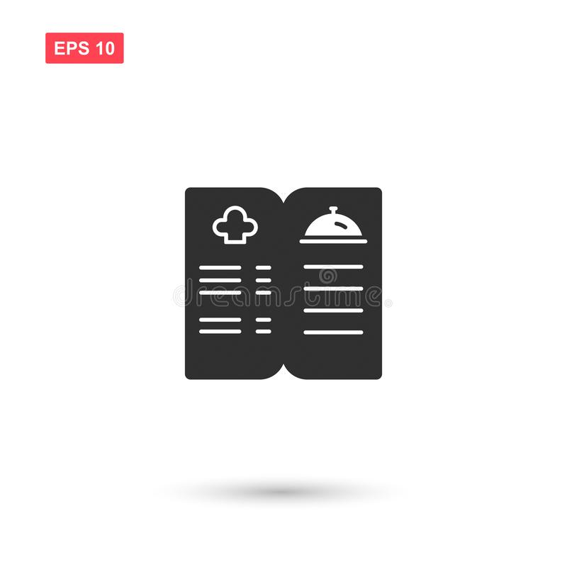 Cookbook icon vector design isolated 5. Eps10 royalty free illustration
