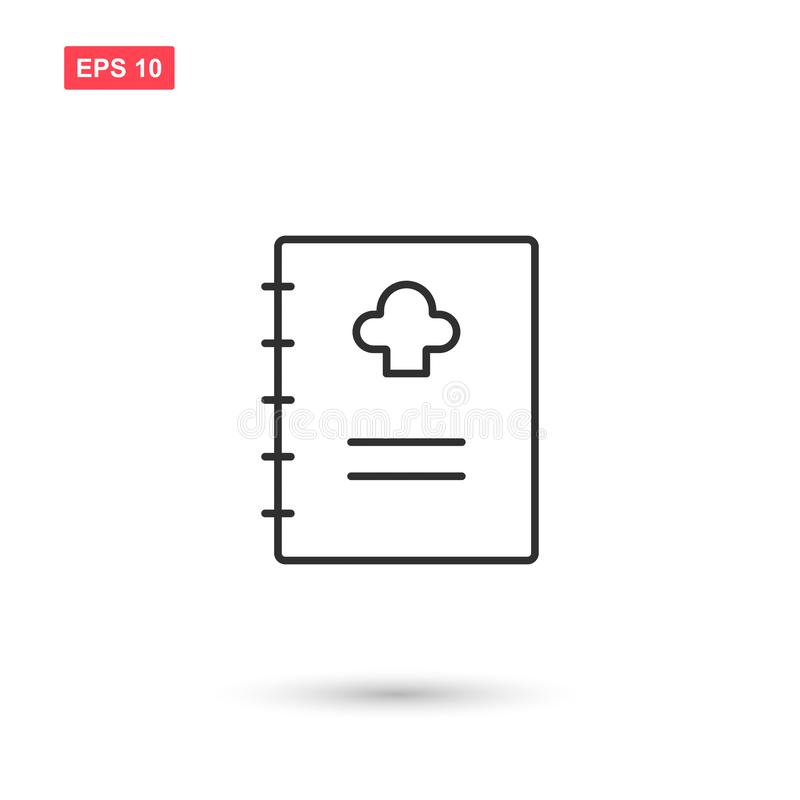 Cookbook icon vector design isolated 2. Eps10 vector illustration