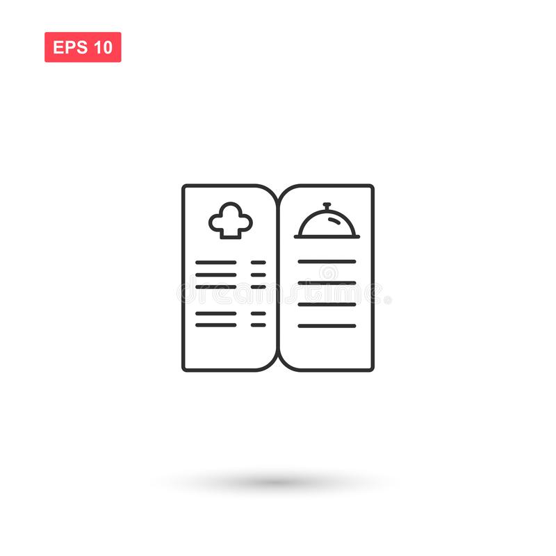 Cookbook icon vector design isolated 6. Eps10 vector illustration