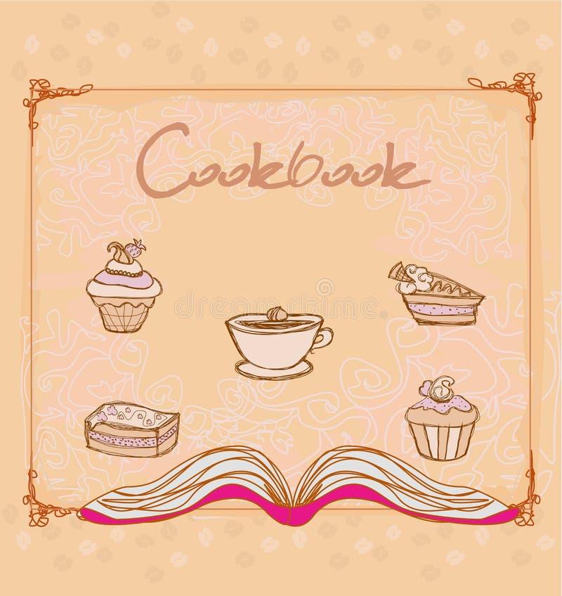 Cookbook - illustration. Vintage style vector illustration