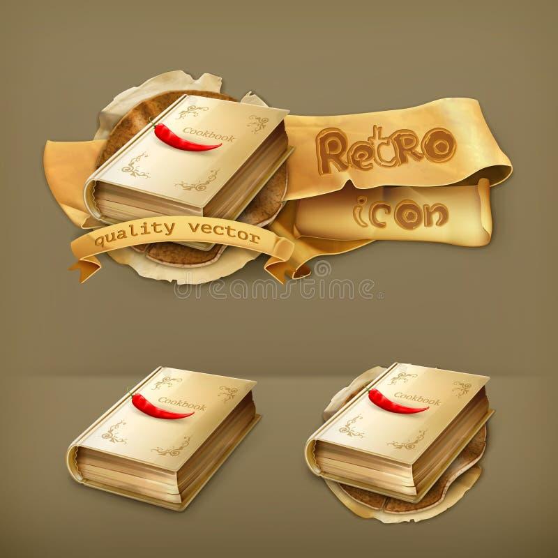 Cookbook vector icons. Cookbook vector illustration retro icons vector illustration