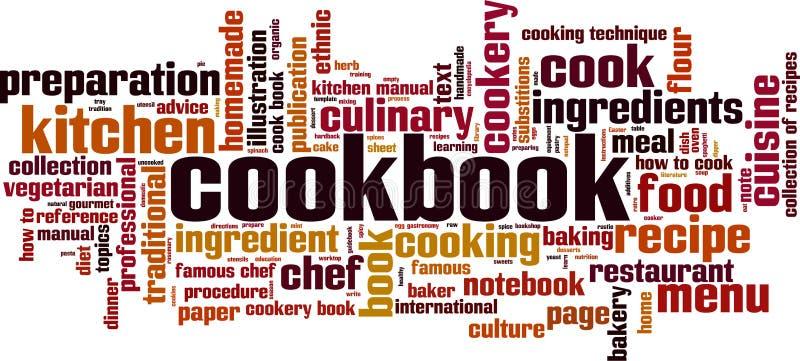 Cookbook word cloud. Concept. Vector illustration royalty free illustration