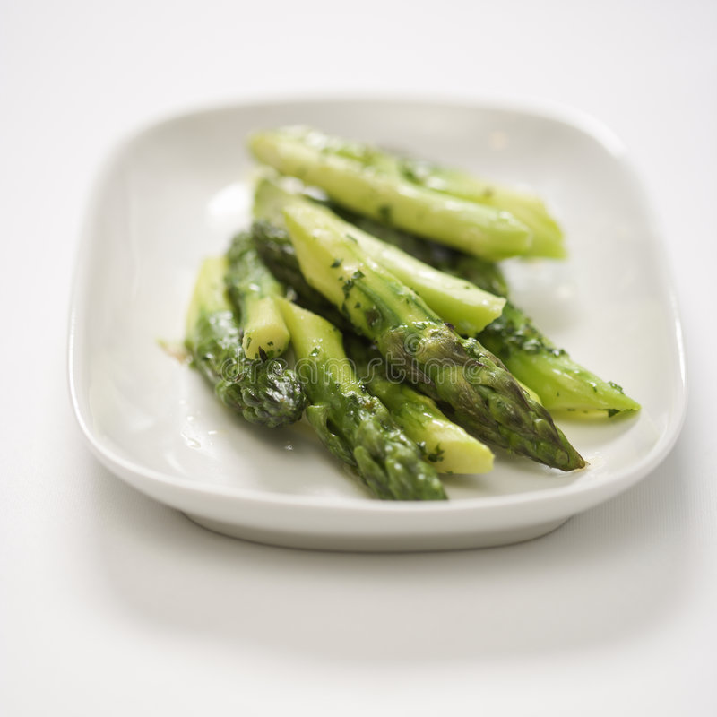 Cooked asparagus. royalty free stock photo