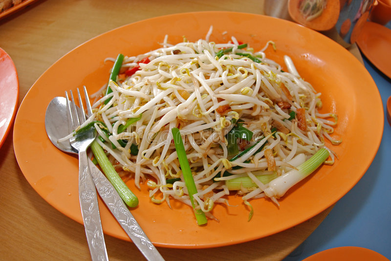Cooked bean sprout stock photo