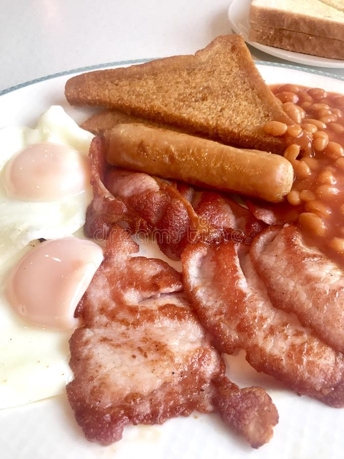 Cooked breakfast royalty free stock images