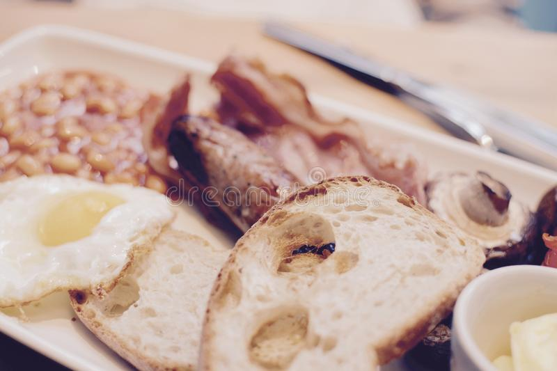 Cooked breakfast royalty free stock photos