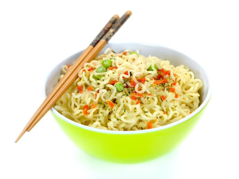 Download Cooked Instant Noodles stock image. Image of food, noodle - 14360471