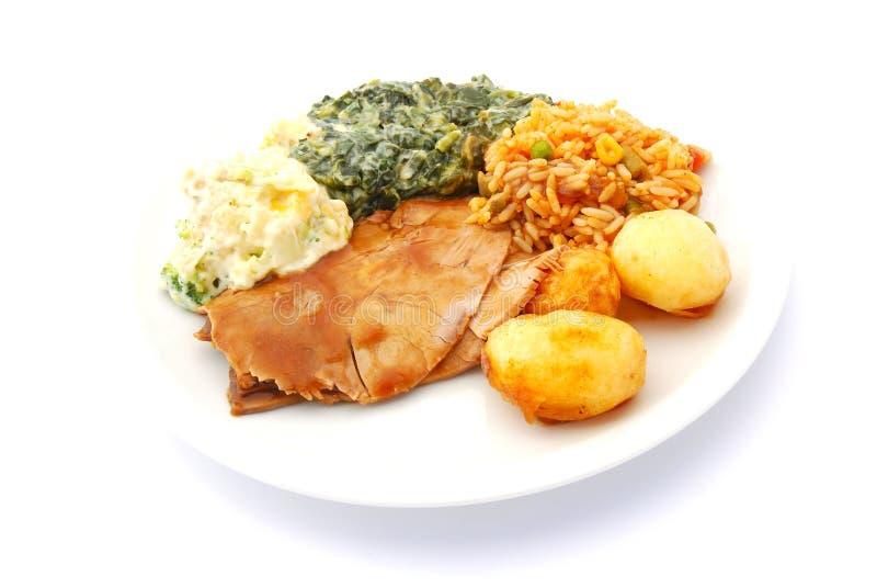 cooked meal 免版税库存图片