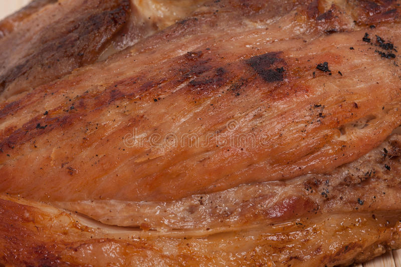 Cooked meat background stock photo