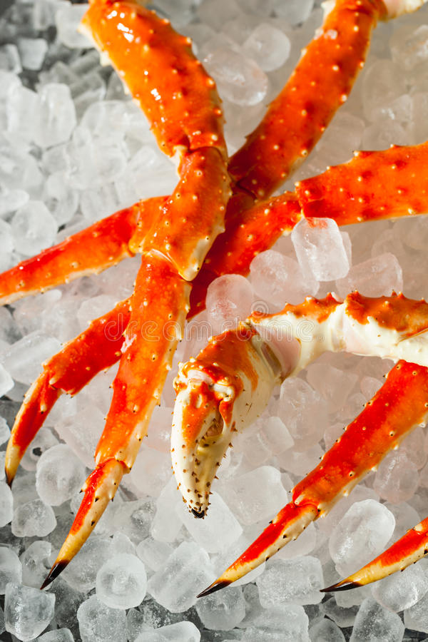 Cooked Organic Alaskan King Crab Legs royalty free stock photography