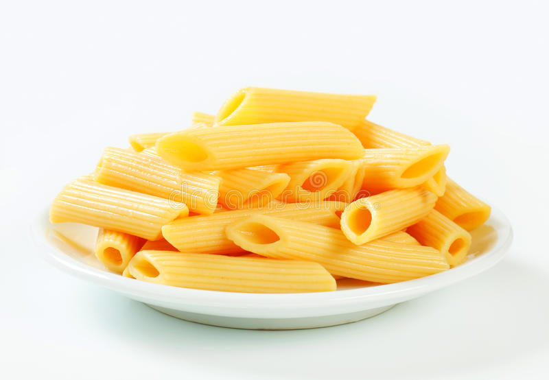 Cooked penne pasta royalty free stock photos