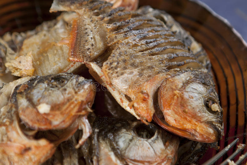 Cooked Piranha. Piranha tasted so good after you cooked it royalty free stock image