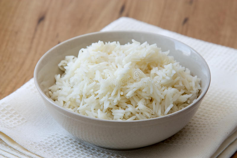 Cooked rice stock photo