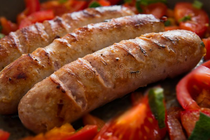 Cooked Sausage stock image