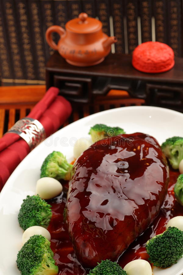 Cooked Sea cucumber stock image