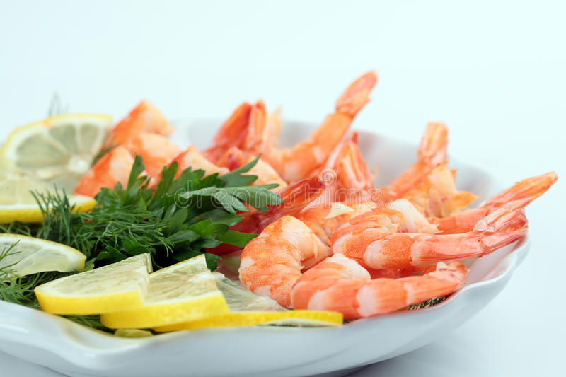 Cooked shrimp royalty free stock photography
