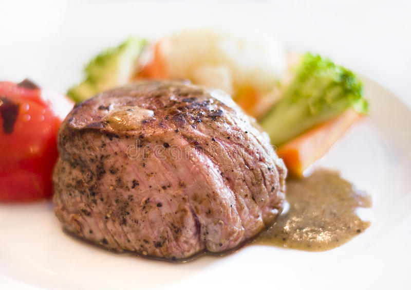 Cooked Steak Stock Images
