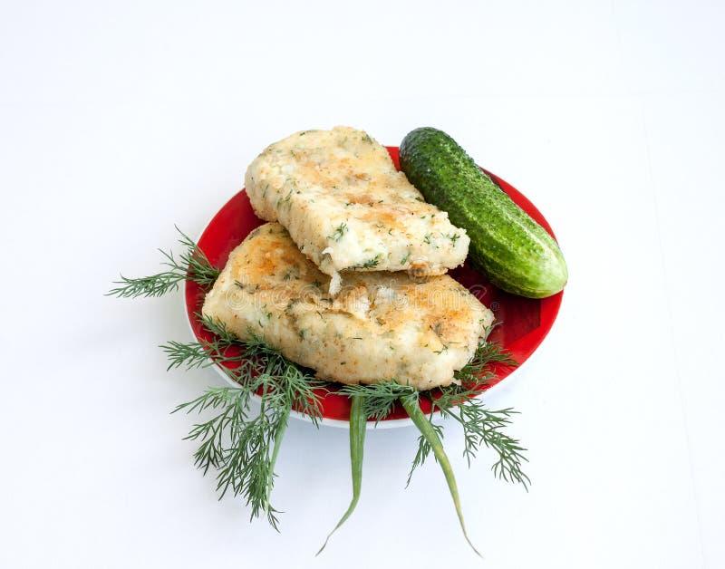 cookery Aardappel en kaasbroodjes met groenten royalty-vrije stock afbeelding