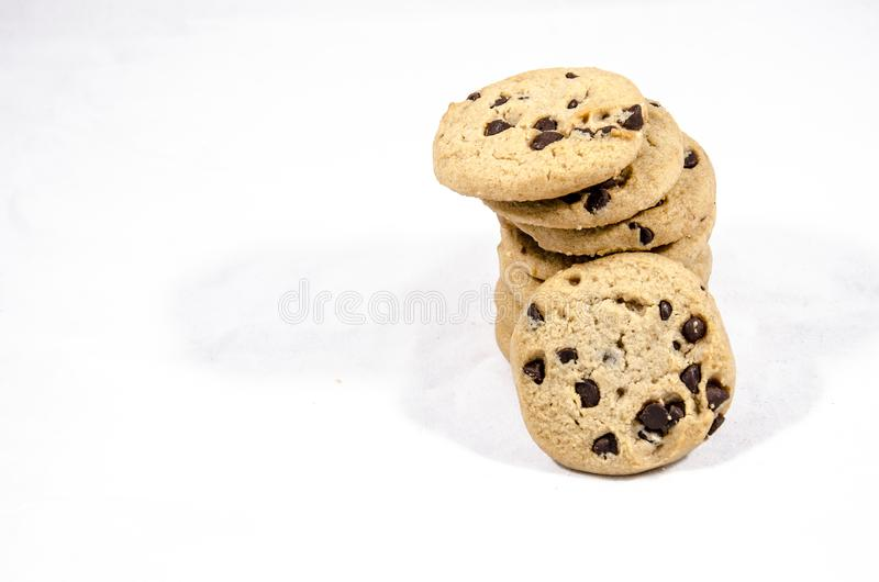 Time to have just one chocolate chip cookie of you can stock photos