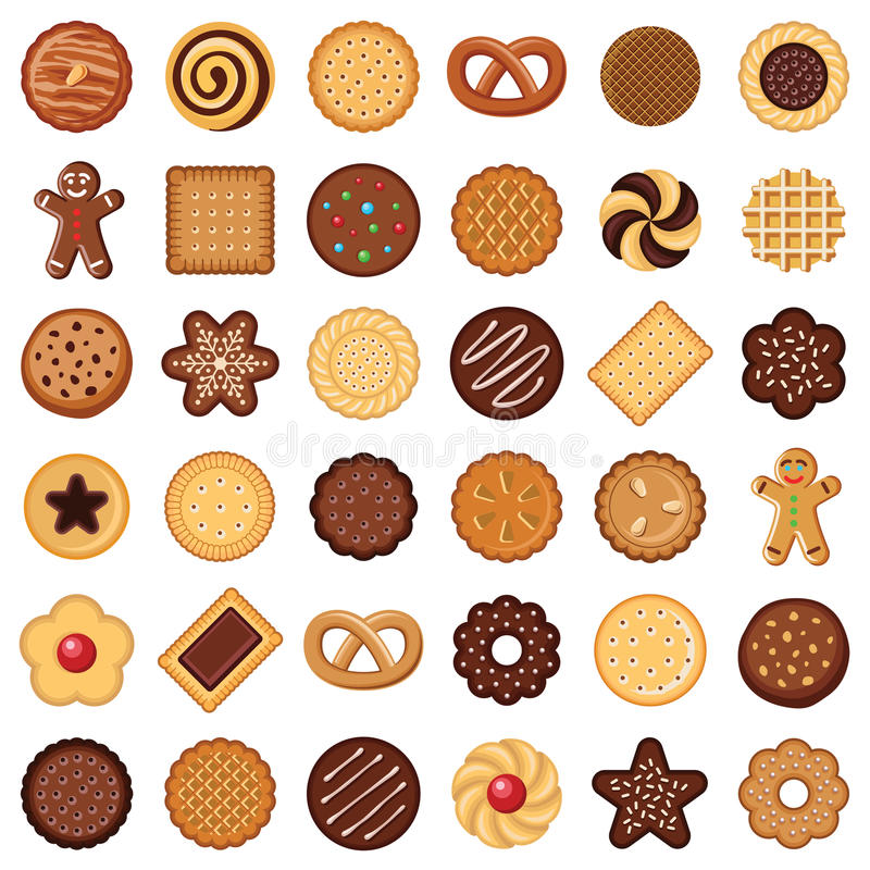 Cookie and biscuit stock illustration