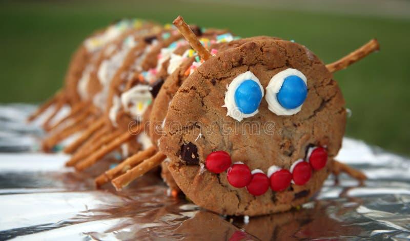 Cookie caterpillar royalty free stock image