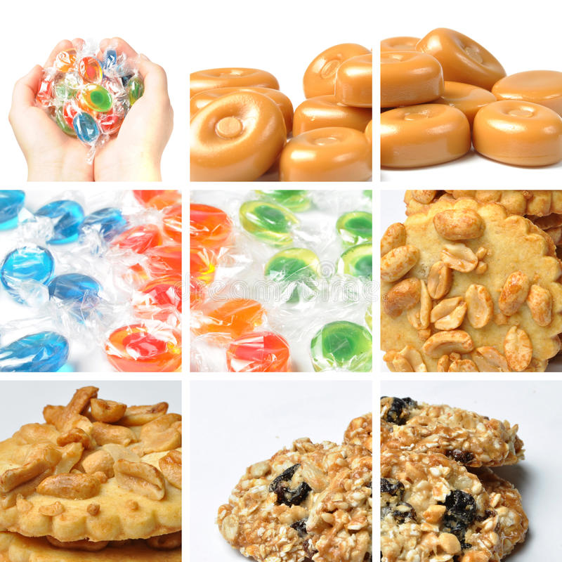 Cookie Collage Stock Image