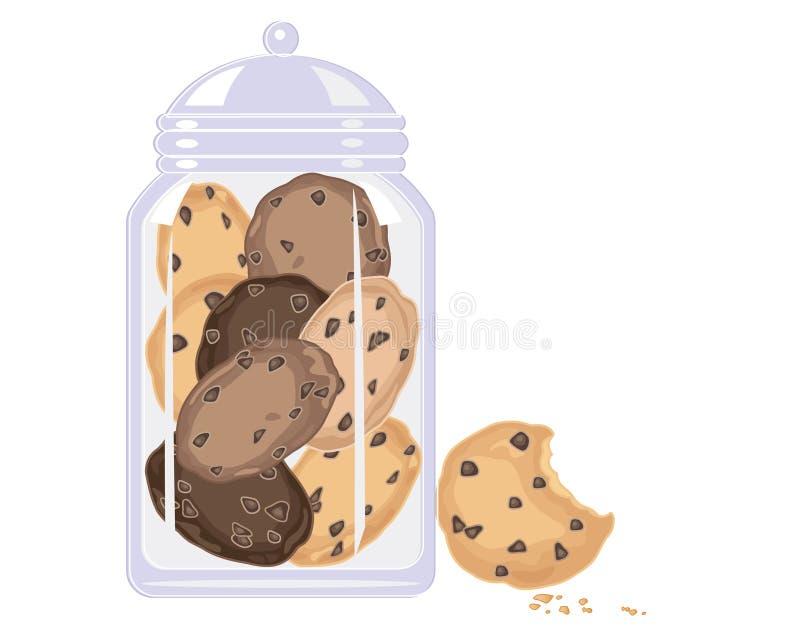 Cookie crunch vector illustration