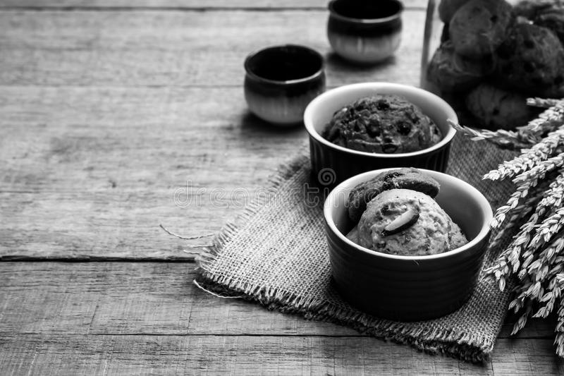 Cookie in cup royalty free stock photos