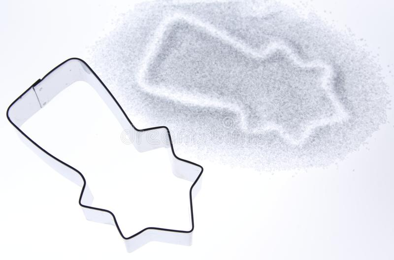 Cookie Cutter For Christmas Cookies Royalty Free Stock Photos