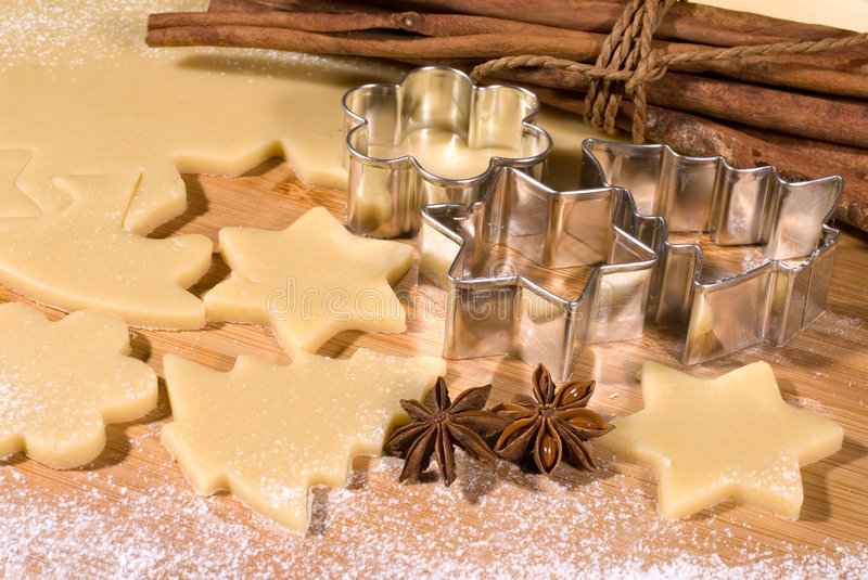 Download Cookie-cutter forms stock image. Image of dough, anise - 7312003