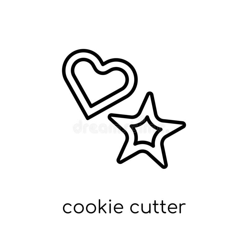 Cookie cutter icon from Kitchen collection. Cookie cutter icon. Trendy modern flat linear vector cookie cutter icon on white background from thin line Kitchen stock illustration
